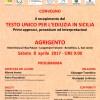 """CONVEGNO """"Il recepimento del TESTO UNICO PER L'EDILIZIA IN SICILIA"""". Agrigento, Hotel Dioscuri, Sab. 8 aprile Ore 9,00"""
