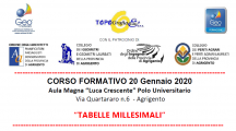 Seminario: Tabelle Millesimali. Agrigento, Lun. 20 Gen. 14:00