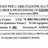 Pubblicazione dei Risultati della Prova Orale di Esame dei Candidati Idonei 17 e 18 Novembre