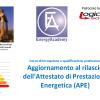 Corso di Aggiornamento al rilascio dell'Attestato di Prestazione Energetica (APE) – Edizione di MENFI