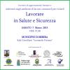 """Incontro Formativo """"Lavorare in Salute e Sicurezza"""". Ribera 7 Marzo"""