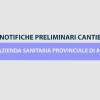 ASP Agrigento: Trasmissione on-line Notifiche Preliminari Cantieri Edili