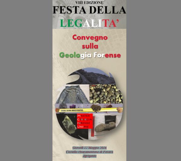 CONVEGNO GEOLOGIA FORENSE 12 MAGGIO 2016 FAVARA